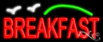 Breakfast Economic Neon Sign