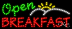 Breakfast Open LED Sign