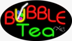 Bubble Tea Oval Neon Sign