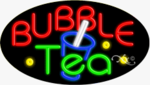 Bubble Tea2 Oval Neon Sign