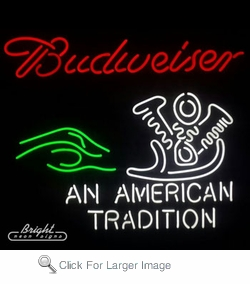 Bud American Tradition Neon Sign