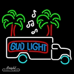 Bud Light Beer Truck Neon Sign
