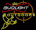 Budlight Outdoors Neon Sign