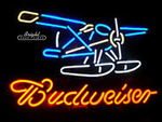 Budweiser Airplane Neon Sign