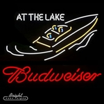 Budweiser At the Lake Neon Sign
