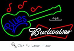 Budweiser Blues Neon Sign
