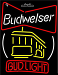 Budweiser Cable Car Neon Sign