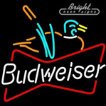 Budweiser Duck Neon Sign
