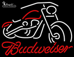 Budweiser Motorcycle Neon Sign