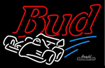 Budweiser Race Car Neon Sign