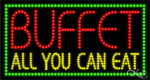 Buffet All You Can Eat LED Sign