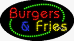 Burgers & Fries LED Sign