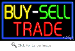 Buy Sell Trade Business Neon Sign