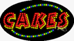 Cakes LED Sign