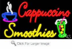 Cappuccino Smoothies Business Neon Sign