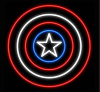 Captain America Neon Sign