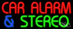 Car Alarm & Stereo Business Neon Sign