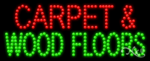 Carpet & Wood Floors LED Sign