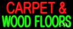 Carpet & Wood Floors Business Neon Sign