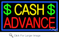 Cash Advance Business Neon Sign