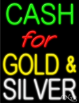 Cash for Gold & Silver Business Neon Sign