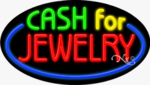 Cash for Jewelry Oval Neon Sign