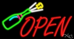 Champagne Open Neon Sign