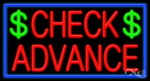 Check Advance Business Neon Sign