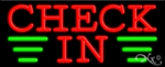 Check In Business Neon Sign