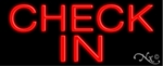 Check In Neon Sign