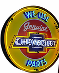 Chevrolet Neon Sign in Metal Can