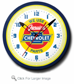 "Chevy Red Center 20"" Neon Clock"