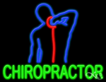 Chiropractor Business Neon Sign