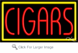 Cigars Business Neon Sign