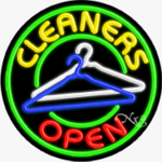 Cleaners Circle Shape Neon Sign
