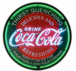 Coca-Cola Evergreen Neon Sign in Metal Can