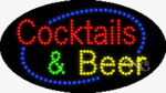 Cocktails & Beer LED Sign