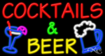 Cocktails & Beer Business Neon Sign