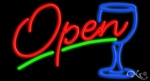 Cocktails Open Neon Sign