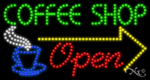 Coffee Shop Open LED Sign