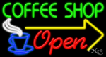 Coffee Shop Open Business Neon Sign
