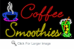 Coffee Smoothies LED Sign