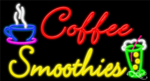 Coffee Smoothies Business Neon Sign