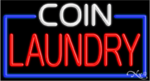 Coin Laundry Business Neon Sign