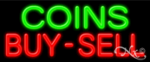 Coins Buy Sell Economic Neon Sign