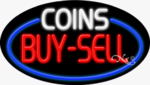 Coins Buy Sell Oval Neon Sign