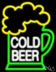 Cold Ice Beer Neon Sign
