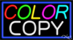 Color Copy Business Neon Sign