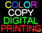 Color Copy Digital Printing Business Neon Sign