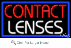 Contact Lenses Business Neon Sign